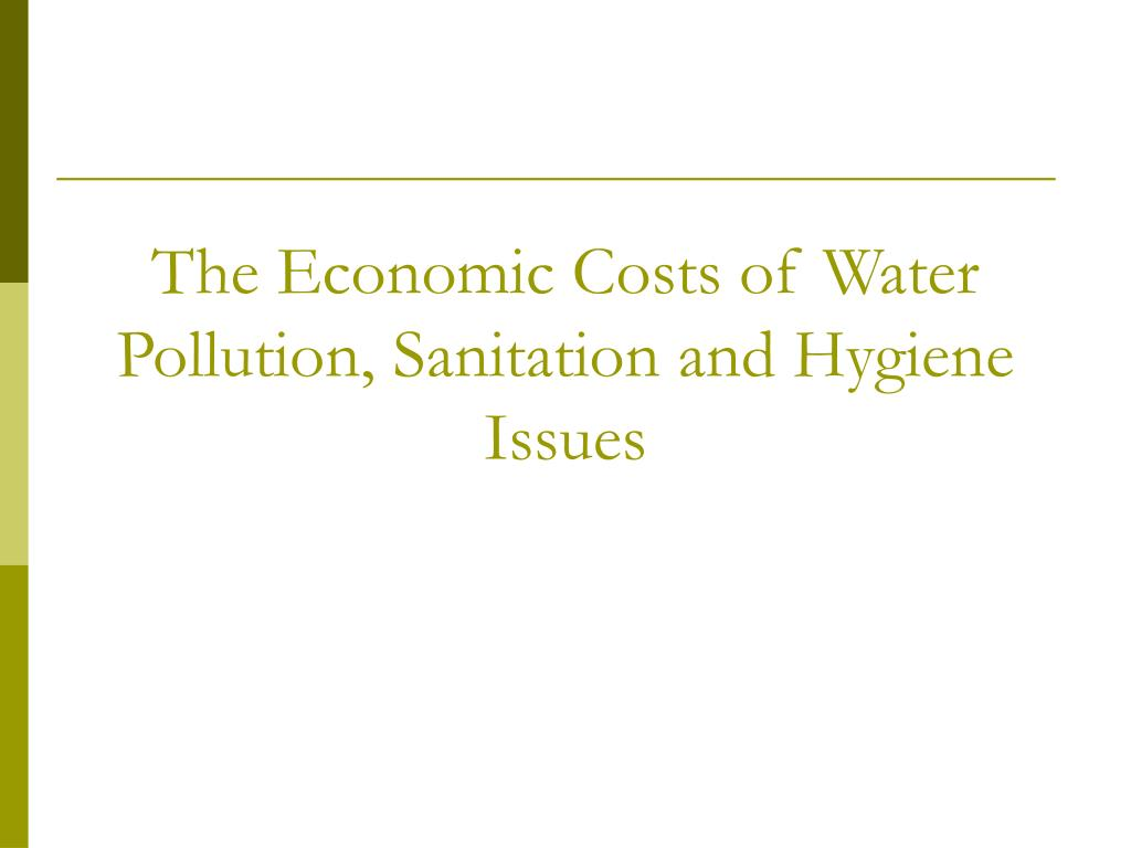 The Economic Costs of Water Pollution, Sanitation and Hygiene Issues