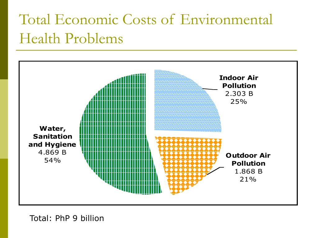Total Economic Costs of Environmental Health Problems