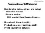 formulation of aim material10