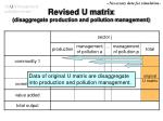 revised u matrix disaggregate production and pollution management