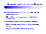 linkages through environmental impacts