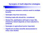 synergies of multi objective strategies