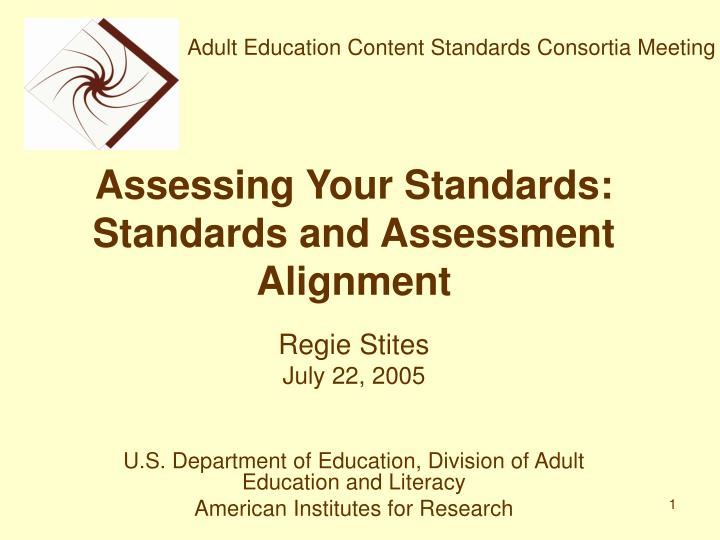 assessing your standards standards and assessment alignment n.