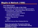 maglio matlock 1998