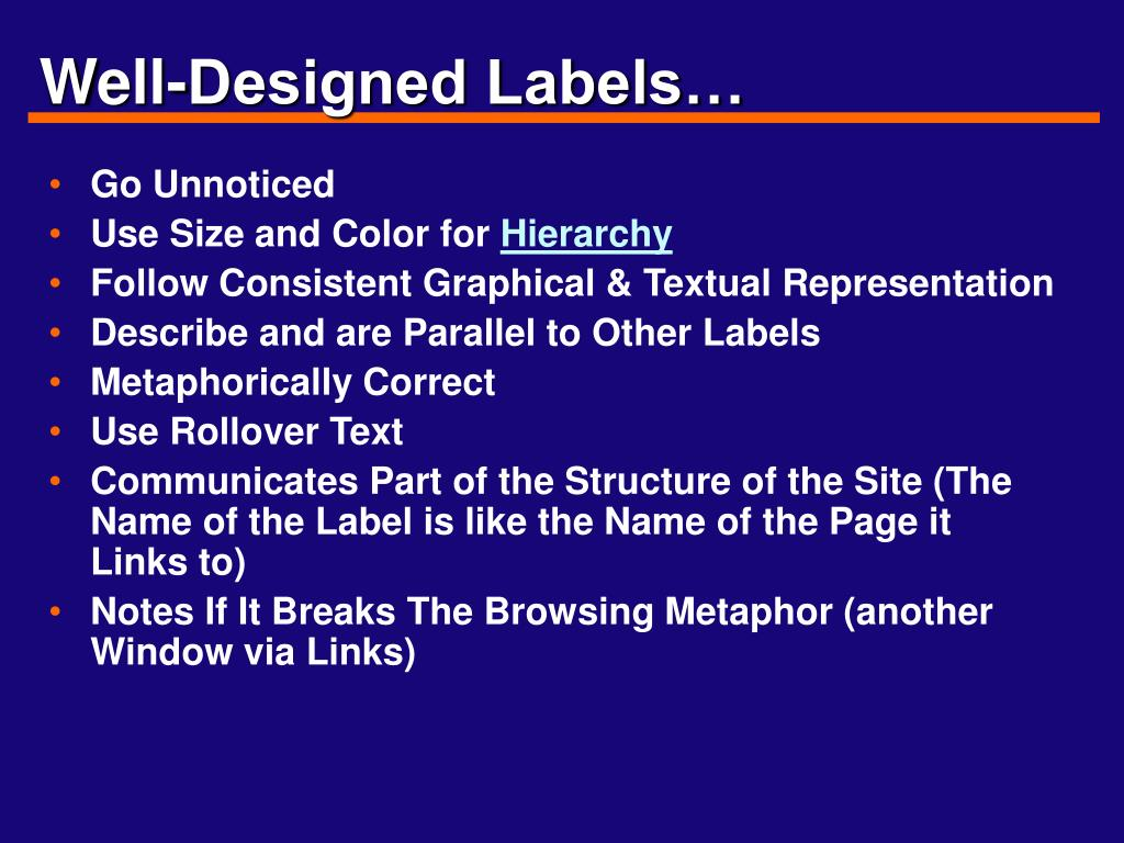 Well-Designed Labels…