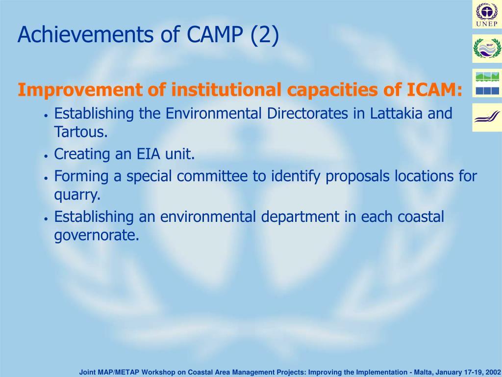 Achievements of CAMP (2)