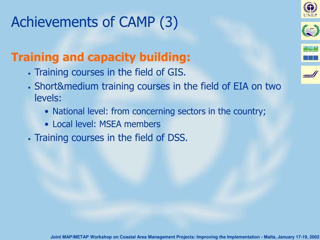 Achievements of CAMP (3)