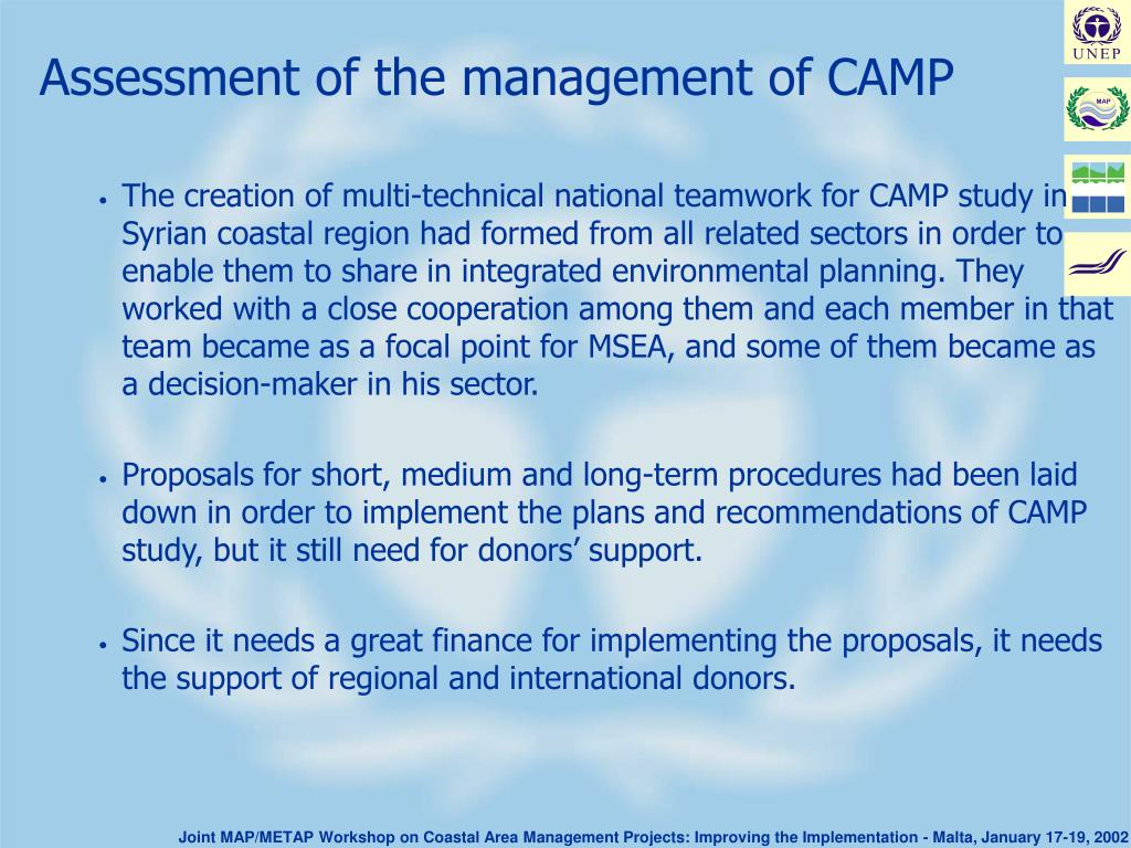 Assessment of the management of CAMP