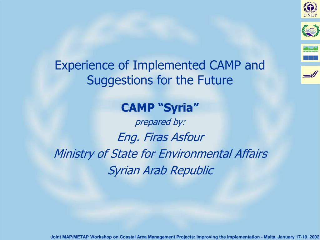 experience of implemented camp and suggestions for the future l.