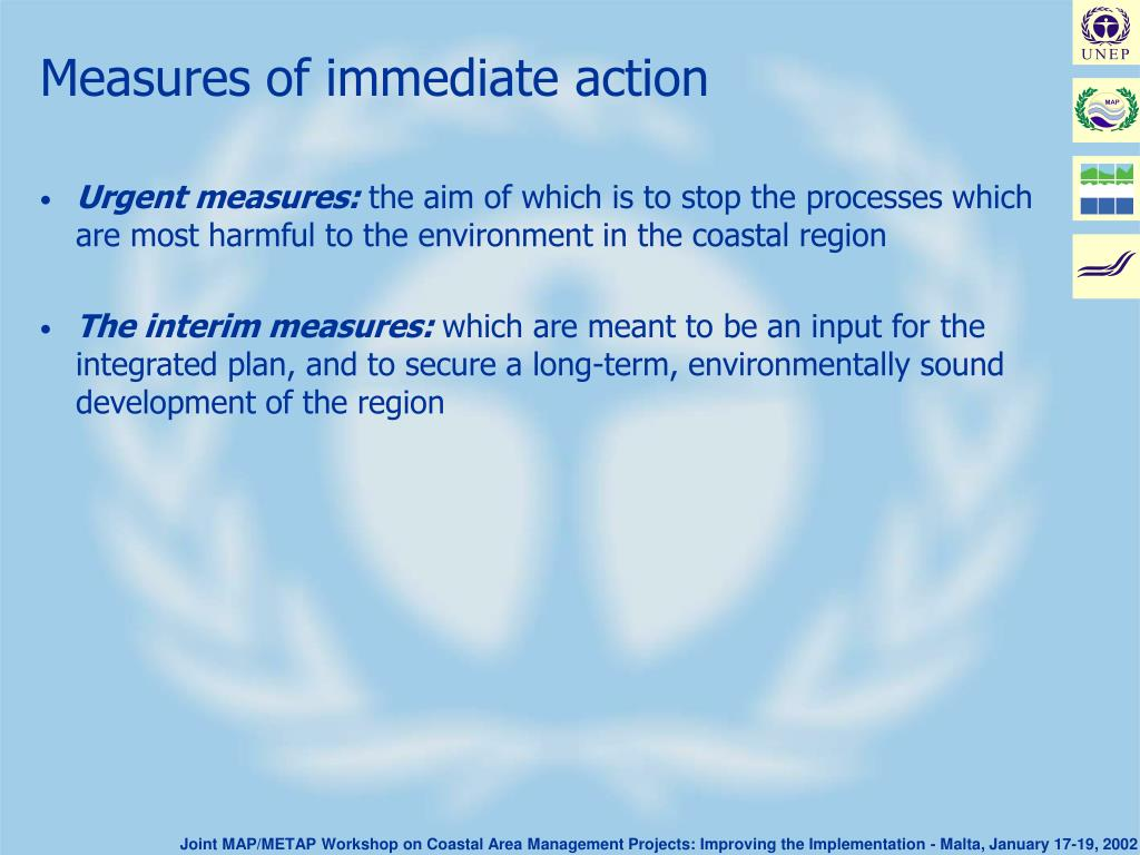 Measures of immediate action