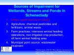 sources of impairment for wetlands streams and ponds in schenectady