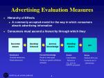 advertising evaluation measures