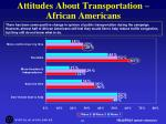 attitudes about transportation african americans