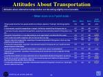 attitudes about transportation47