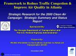 framework to reduce traffic congestion improve air quality in atlanta42