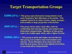 target transportation groups