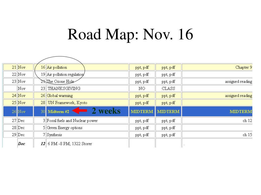 road map nov 16 l.