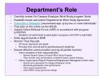 department s role