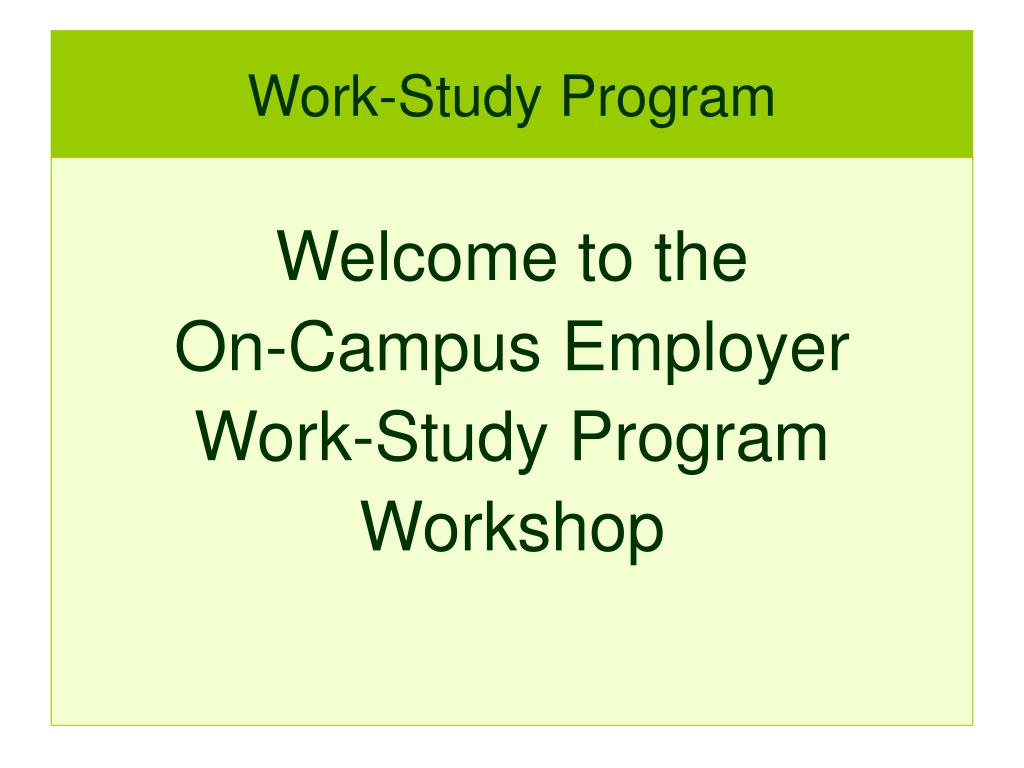 work study program l.