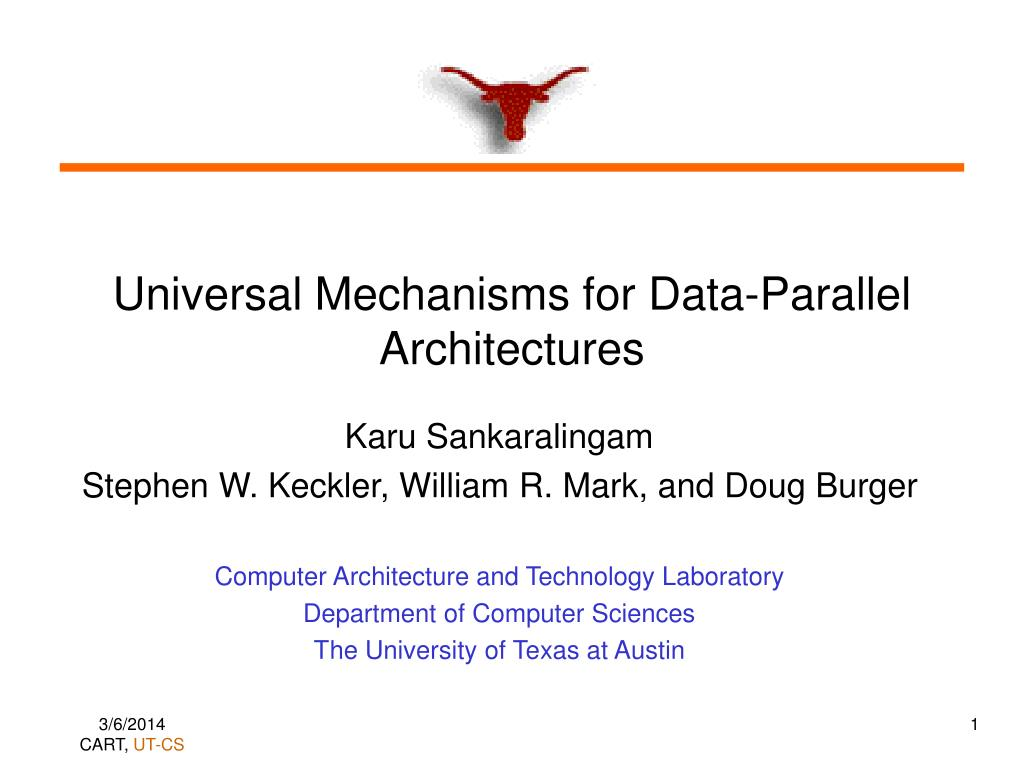 universal mechanisms for data parallel architectures l.