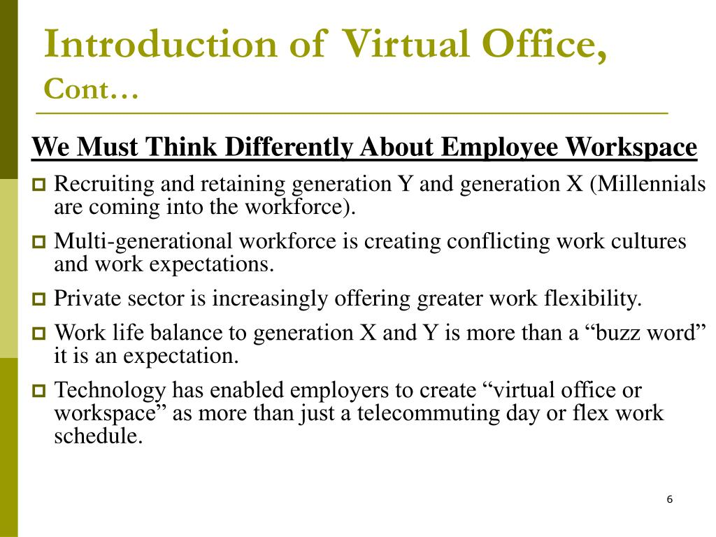 Introduction of Virtual Office,