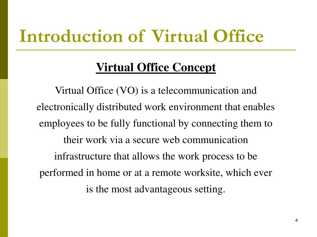 Introduction of Virtual Office