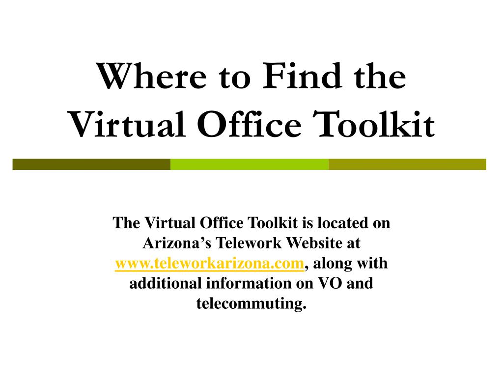 Where to Find the Virtual Office Toolkit