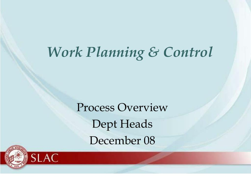 work planning control l.