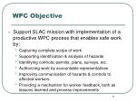 wpc objective