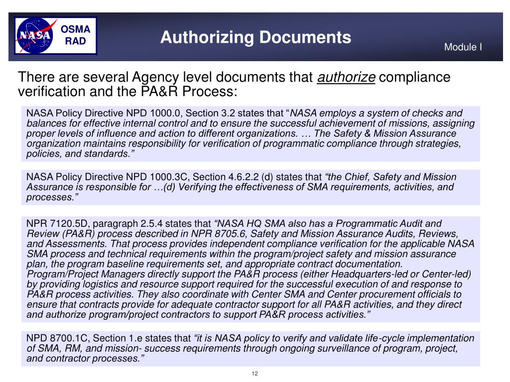 Authorizing Documents