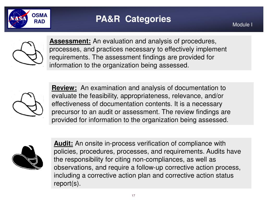 PA&R  Categories
