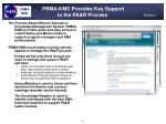 pbma kms provides key support to the pa r process