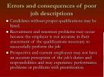 errors and consequences of poor job descriptions5