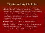 tips for writing job duties