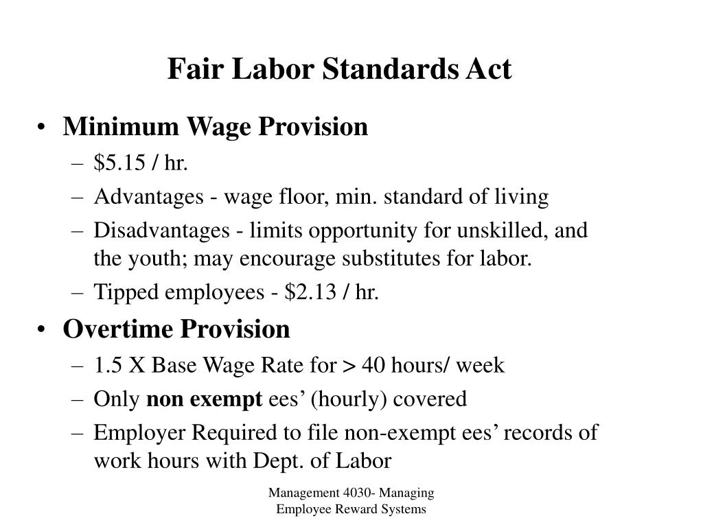 fair labor standards act l.