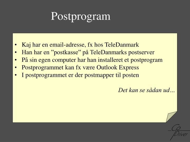 Postprogram