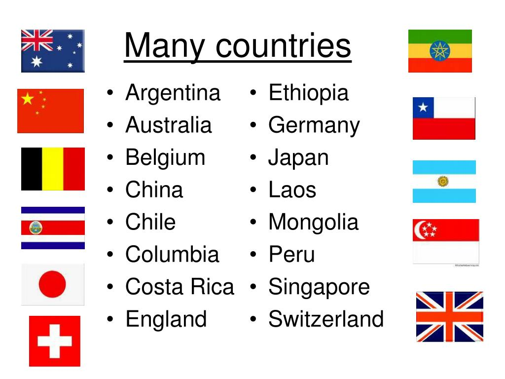 Many countries