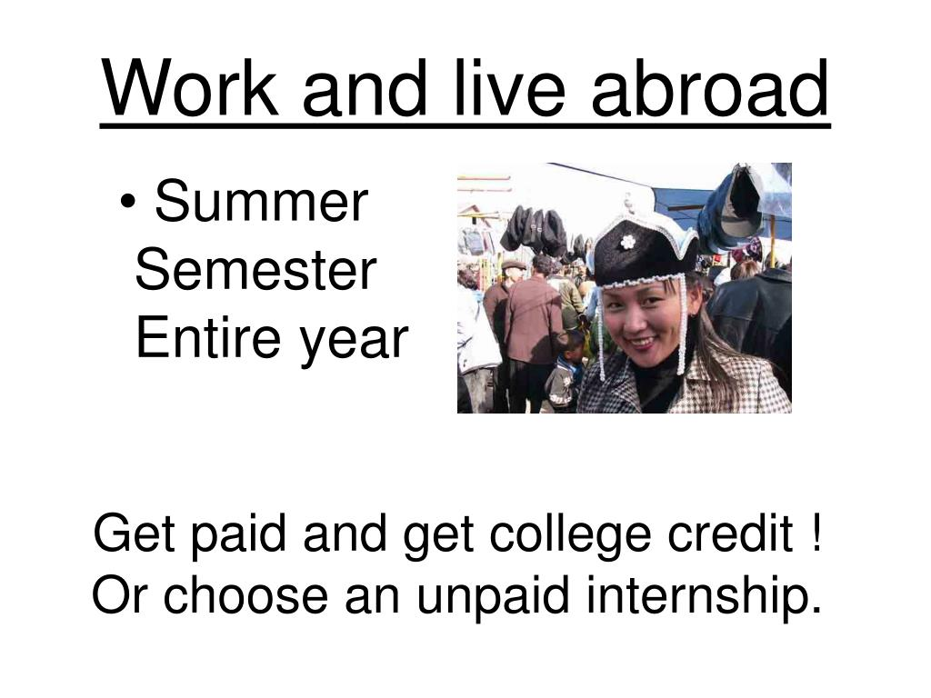 Work and live abroad