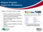 alliance program impact on workplaces