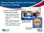 alliance program results and successes awareness campaign