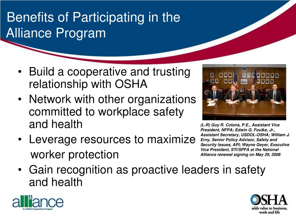 Benefits of Participating in the