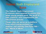 federal youth employment rules