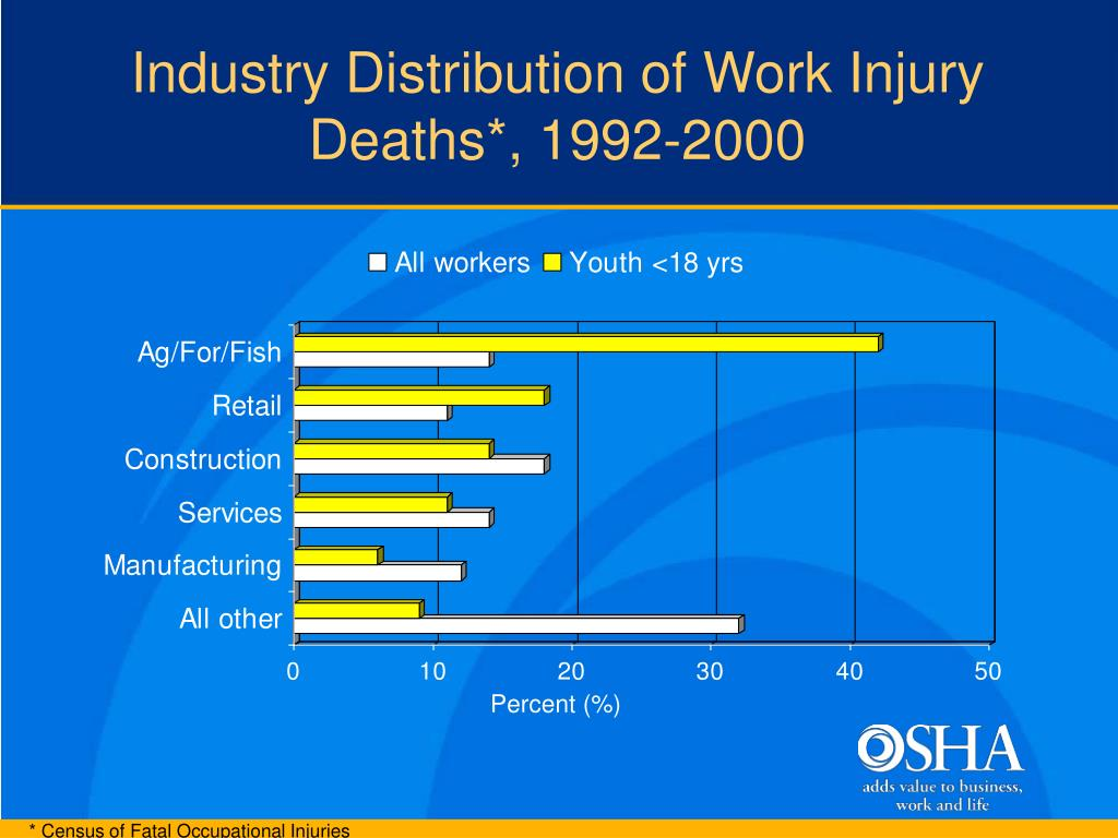Industry Distribution of Work Injury Deaths*, 1992-2000