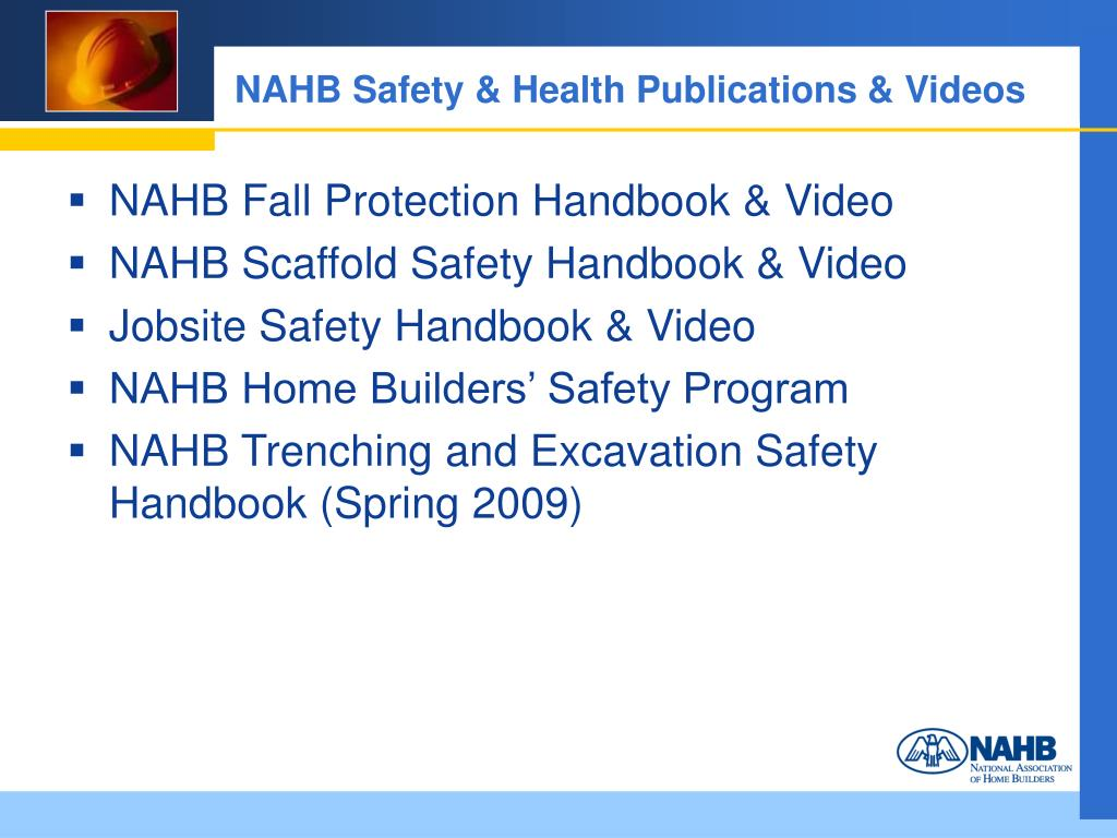 NAHB Safety & Health Publications & Videos