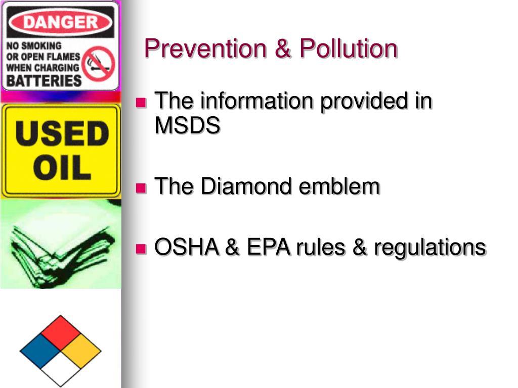 Prevention & Pollution
