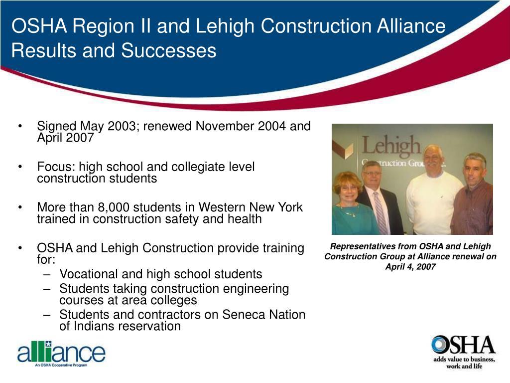 Signed May 2003; renewed November 2004 and April 2007
