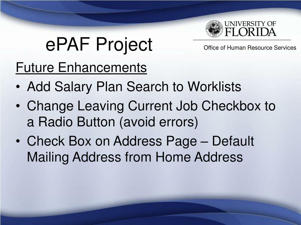ePAF Project