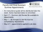faculty and grad assistant summer appointments25