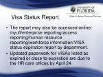 visa status report35