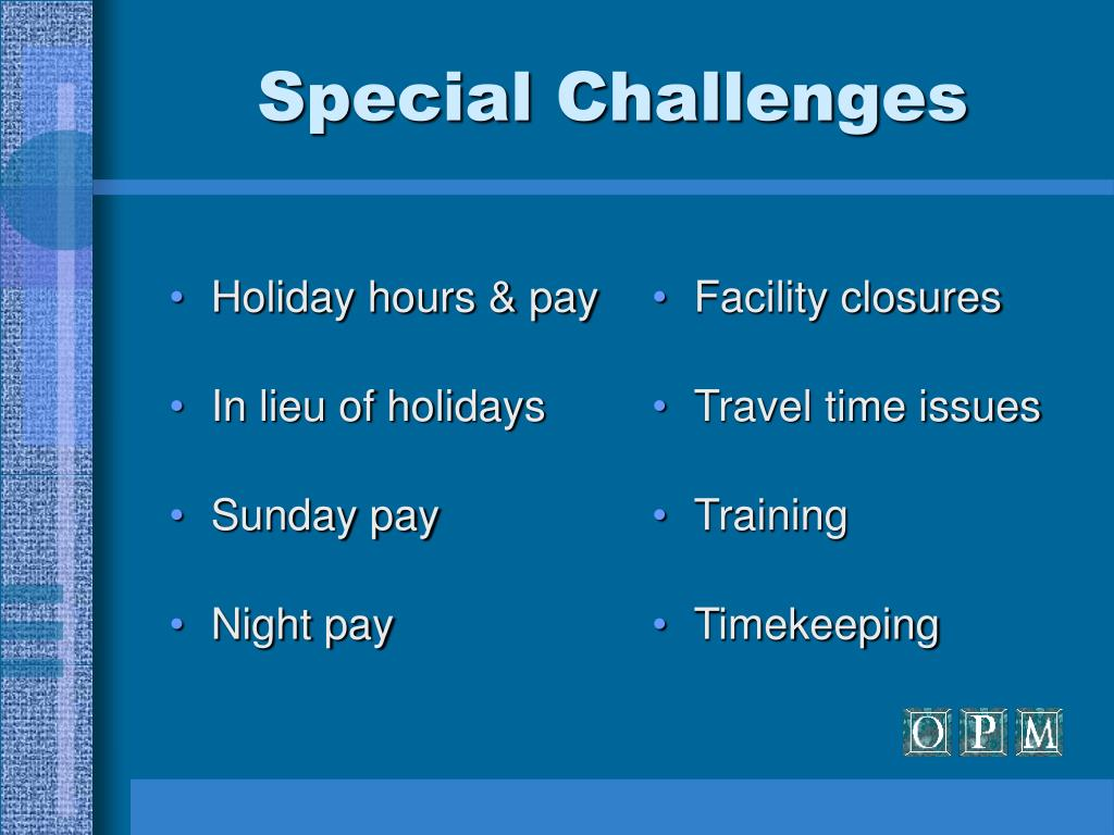 Holiday hours & pay